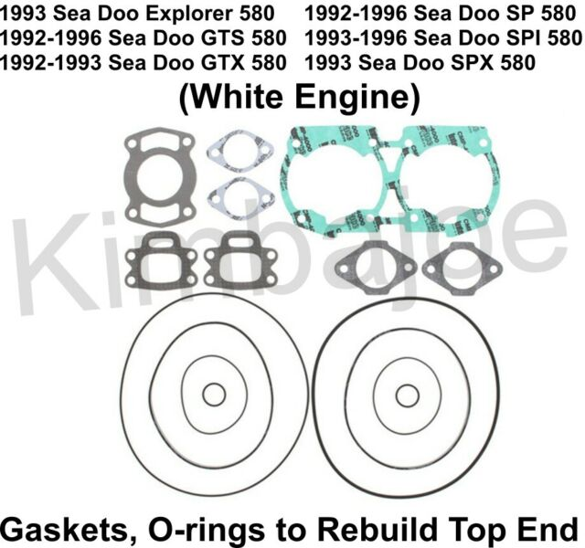 92-96 Sea Doo 580 Explorer GTS GTX SP SPI SPX White Engine