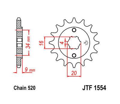 JT Front Sprocket 520 13T #JTF1554.13 Yamaha YFS200