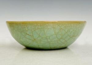 Signed Old Fine Chinese Ru Yao Ru Kiln Bowl