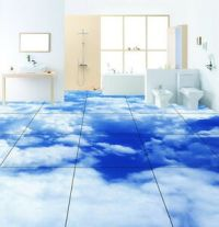 Blue Sky Clouds Floor Decals 3D Wallpaper Wall Mural