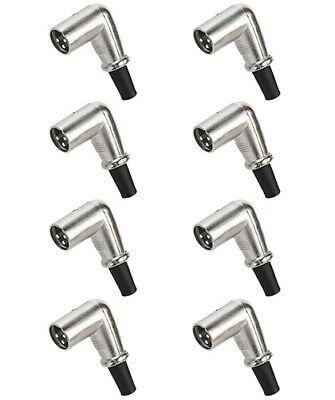 8x 3-Pin XLR Male Plug Right Angle 90 Degree Microphone