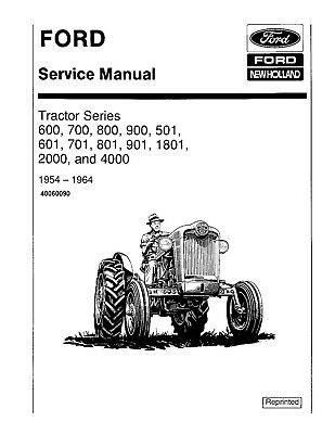 FORD NEW HOLLAND 2000 4000 501 600 601 700 701 800 801