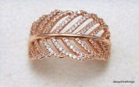 NWT AUTHENTIC PANDORA ROSE GOLD RING LIGHT AS A FEATHER ...