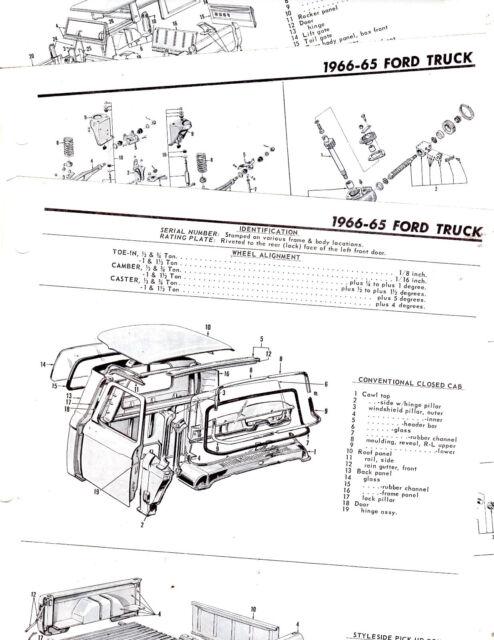 1967 1968 FORD PICKUP 67 68 ORIGINAL MOTOR'S PARTS CRASH