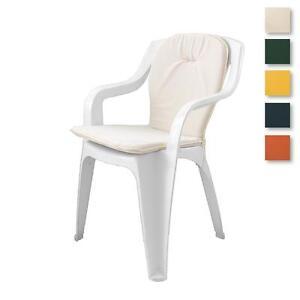 details sur paire coussins chaise exterieur jardin assise dossier uni standard p494