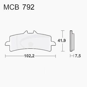 Brake Pads Carb Crq TRW Luc Front Mcb792crq Suzuki Gsx-R