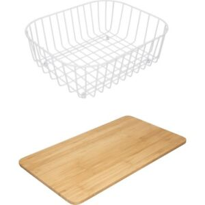 kitchen drainer basket chairs wood franke chopping board 2 piece accessory set image is loading
