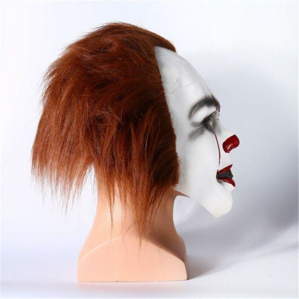 Halloween Cosplay Scary Mask Costume Movie Stephen King's IT Clown Pennywise  3