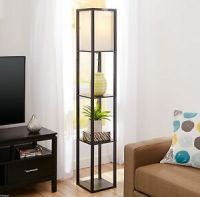 Square Floor Lamp Contemporary Standing Shelf Accent Decor ...