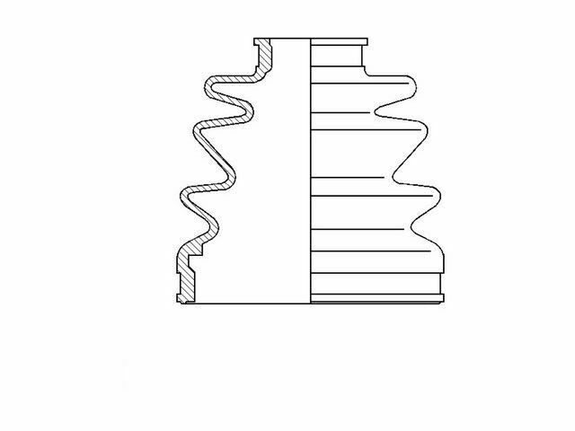 For 1999-2004 Honda Odyssey CV Boot Kit Front Left Inner