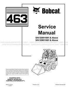 Bobcat 463 Revision 2012 Update Skid Steer Loader Printed