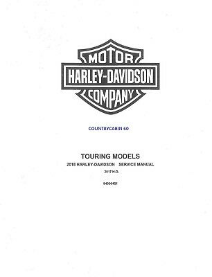 2018 Harley Touring Service Shop Manual With Electrical