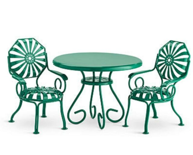 american girl doll kit table 2 chairs green metal patio furniture molly