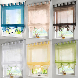 curtains for the kitchen chrome table roman blinds liftable tab top voile curtain balcony study