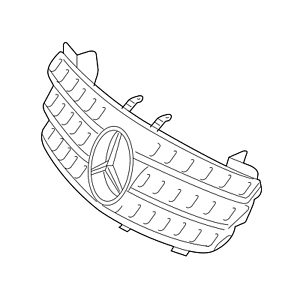 Genuine NEW Front Grille Assembly for Mercedes X164 GL
