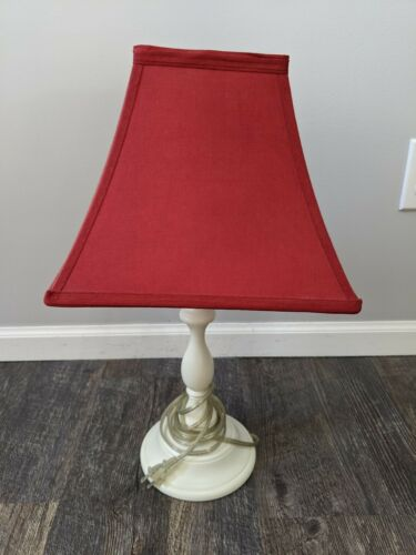 pottery barn kids lamp with red shade ivory base kids teens at home lighting