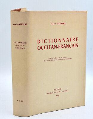 Traduction Occitan-français Première : traduction, occitan-français, première, Louis, Alibert, DICTIONNAIRE, OCCITAN-FRANCAIS., 1966,
