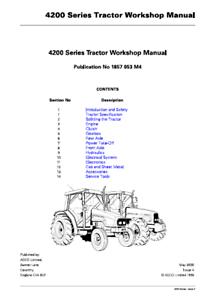 Massey Ferguson 4200 Series Tractor Workshop Manual