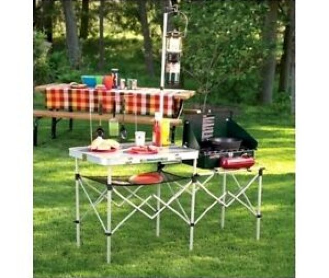 Image Is Loading Portable Camping Kitchen Table Lightweight Folding Cooking Equipment