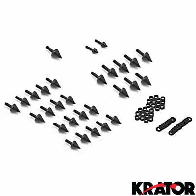 Honda CBR 900RR 929RR 954RR Black Spike Fairing Bolts Kit
