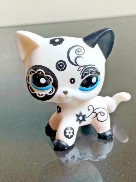 Rare Littlest Pet Shop Custom Ooak Lps Short Hair Cat White Hand Painted Figure For Sale Online Ebay