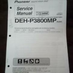 Pioneer Radio Manual 97 Chevy S10 Wiring Diagram Service For The Deh P3800mp Car Stereo Cd Image Is Loading