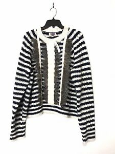 J. Crew Collection Cable Knit Embellished Sweater XXL