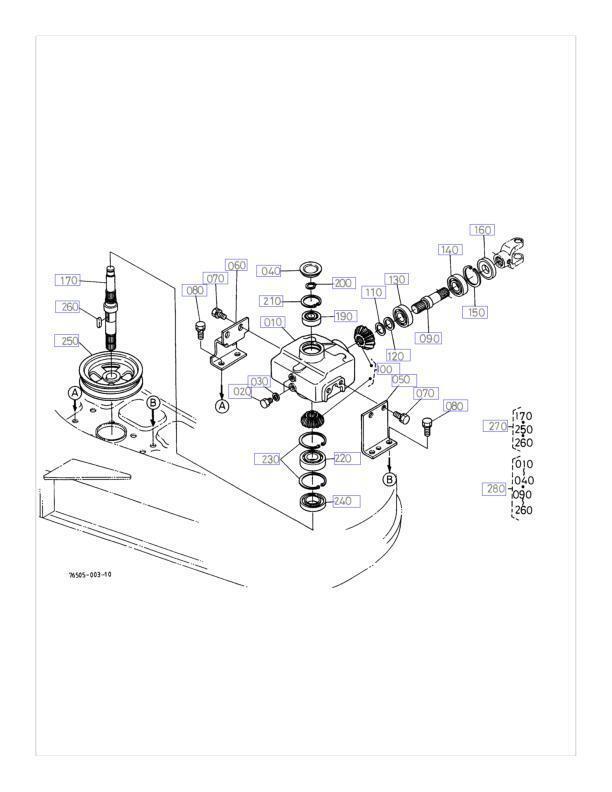 Complete Repair Kit for Kubota 76578-99040 Gearbox RC60