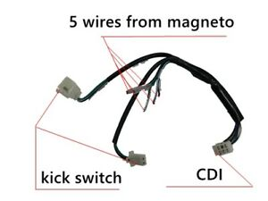 WIRE LOOM WIRING HARNESS KICK START 50/70/90/125/140/150CC