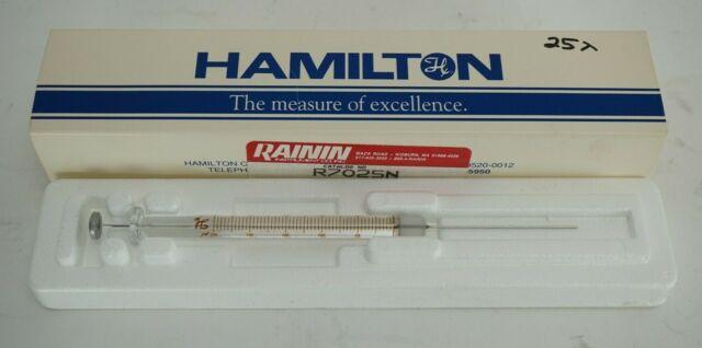 Hamilton Microliter 25 ml Syringe #702   eBay