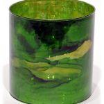 Elixir Green Marbleized Mercury Glass Candle Holder Vase Home Wedding Decor 6 H For Sale Online