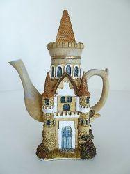 Castle Tower Medieval Mythical Fantasy 6 Tea Pot Kettle Shape Figurine YM 1995 eBay