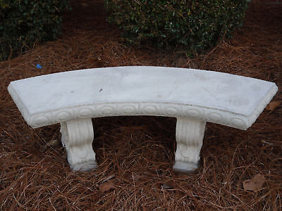 48 curved concrete bench with legs scroll design cement bench patio bench ebay