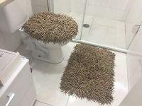 RUG MEDUSA BATHROOM SET CARAMEL AND LIGHT BROWN | eBay