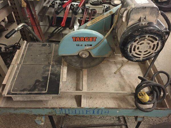 target 1 5hp tile saw ta10100 tilematic baldor wet dry