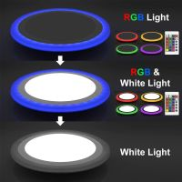 RGB 16 Colour Changing Ring LED Ceiling Panel Down Light ...