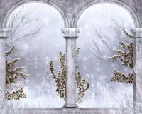Gothic Winter Snowy Ruin 3D Full Wall Mural Large Print ...