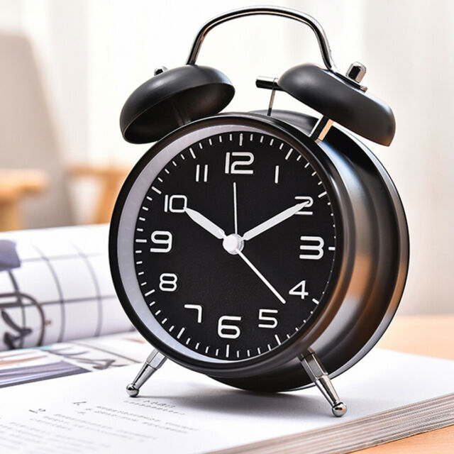75044bk Silent Sweep Bell Alarm Clock
