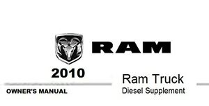 2010 Ram Truck 1500 2500 3500 Owner's Owner Owners User