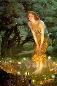 Fall Fairys Wallpapers Midsummer Eve Fairy Forest Little Fairies 1909 Painting By