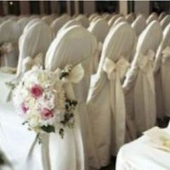 Wedding Chair Covers For White Round Table 6 Chairs Polyester Banquet Reception Party Decorations 3 Image Is Loading