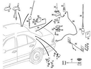 OEM Mercedes Benz New Genuine Antenna Assembly Frame