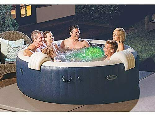 intex pure spa exterieur whirlpool 85 bubble massage pour 6 personnes o x h 216 x 71