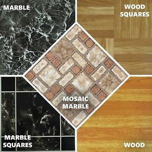 details about mosaic vinyl self adhesive floor tile stickers 30 x 30 kitchen marble effect