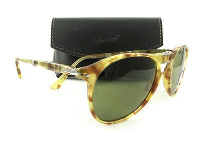 Persol Folding Sunglasses PO9714S Yellow Tortoise Green 1061/4E Authentic New | eBay