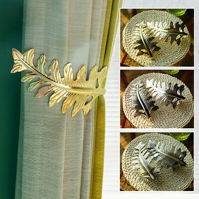 1 2pcs curtain holdbacks leaf u shaped curtain wall hooks tie backs hook decors ebay
