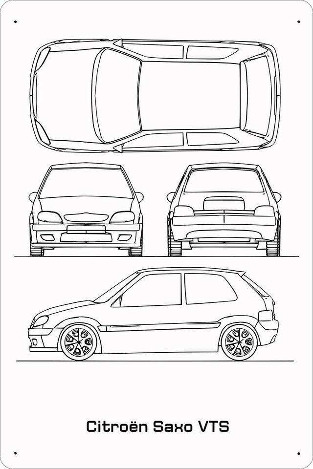 Skilte, Citroen Saxo VTS Blueprint – dba.dk