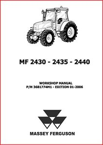 Massey Ferguson 2440 MF2440 Tractor Workshop Service