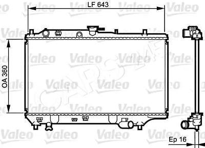 VALEO Engine Cooling Radiator Fits MAZDA 323 Astina Etude