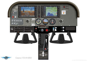 details about cessna 172 garmin 1000 panel vh bsv laminated poster a0 a1 a2 or a3 sizes
